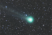 Comet Lovejoy passing the Pleiades in January 2015.