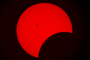 Partial solar eclipse on October 23, 2014 from Nightfall in Borrego Springs, California