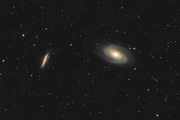 M81 and M82 with an FLI ML11002-C and Takahashi TOA-150
