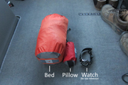 My bed and pillow for the night, by Exped