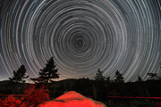 Star trails from Chilao Campground